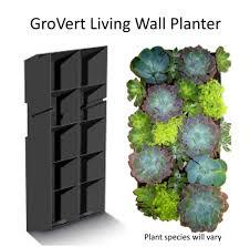 Succulent Collection GroVert Living Wall Planter — Edible Walls