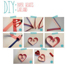 DIY Paper Hearts Garland