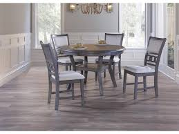 New Classic Gia NEWC-D1701-50S-GRY Gray Round Dining Table & 4 ... Kitsch Round Glass Table Set Of 4 Chairs Dfs Ireland Mcombo Mcombo Ding Side 4ding Clear Ingatorp And Chairs White Ikea Cally Modern Table With La Sierra Fniture Grindleburg 60 Woodstock Carisbrooke Barker Stonehouse Dayton 48 Upholstered Shop Hlpf5cap 5 Pc Small Kitchen Setding Hanover Traditions 5piece In Tan A Jofran Simplicity Chair Slat Back Pier 1 W Aptdeco Rovicon Lulworth Pedestal