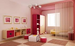 Interior Decoration Ideas Boys Bedroom Girls Good Design Using Pink Wood Bookcase Also Wall Mounted Shelves And Brown White