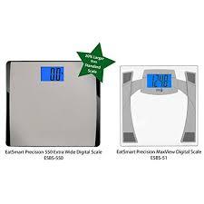 Eatsmart Digital Bathroom Scale by Amazon Com Eatsmart Products Extra Wide Digital Bath Scale With