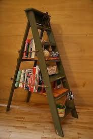 ladder display shelves home decor repurposing upcycling