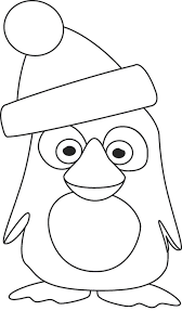 This Cute Penguin Ready For Christmas Coloring Page