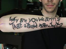 Quote Tattoo Idea For Your Back Design Lower Arm