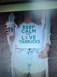 Keep Calm Love Starbucks Coffee Tank Top