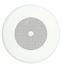 self amplified drop ceiling speaker mounted on a 2x2 metal tile