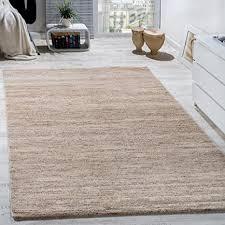 paco home teppich modern wohnzimmer kurzflor gemütlich preiswert meliert in creme grösse 120x170 cm