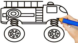 Fire Truck Monster Truck Coloring Pages For Kids - How To Draw ... Easy Fire Truck Coloring Pages Printable Kids Colouring Pages Fire Truck Coloring Page Illustration Royalty Free Cliparts Vectors Getcoloringpagescom Tested Firetruck To Print Page Only Toy For Kids Transportation Fireman In The Letter F Is New On Books With Glitter Learn Colors Jolly At Getcoloringscom
