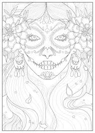 Coloring Page Inspired By The Day Of Dead Celebration In Mexico