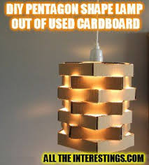 How To Make Decorative Pendant Lamp Shade Out Of Used Cardboard