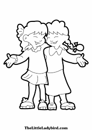 Best Friend Coloring Pages New For Friendship