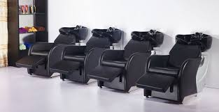 salon shoo bowls shoo chairs sinks backwash units