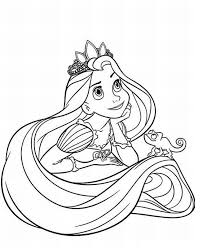 Amusing Disney Coloring Pages Printable Tangled