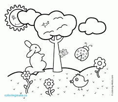 Spring Coloring Sheets Preschool Printable Games