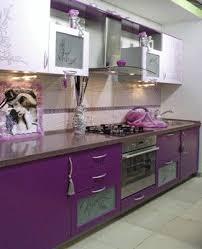 Purple Kitchen Cabinets Modern Color Schemes