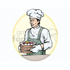 Cartoon chinese cake baker