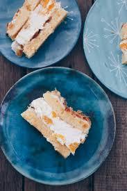mandarinen baiser torte einfach auf einem blech backen