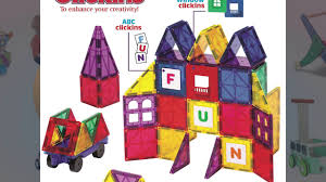 Picasso Tiles Magnetic Building Blocks by Playmags Clear Colors Magnetic Tiles Deluxe Building Set Youtube