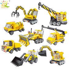 100 Lego City Dump Truck 8 Types DIY Engineering Vehicle Car Excavator Model