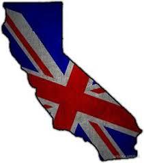 United Kingdom California Outline UK Flag