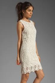 joie vionne crochet lace dress in white lyst