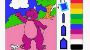 Coloring Barney On Pbs Kids