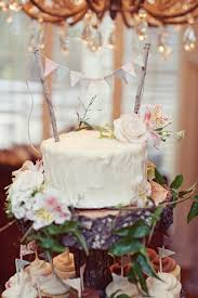 Rustic Bunting Cake Topper