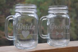 Personalized Mason Jar Drinking Glasses Set Of 2