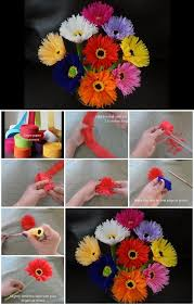 How To Make Paper Flowers Out Of Crepe Streamers