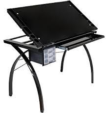 Studio Rta Desk Glass by Amazon Com Studio Designs 10050 Futura Craft Station Silver Blue