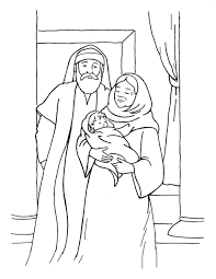 John The Baptists Parents Zechariah And Elizabeth Luke 157 66 O Open Print This Christian Coloring Page