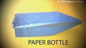 How To Make Paper Bottle Using By Arts Crafts