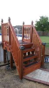 Above Ground Pool Ladder Deck Attachment by Round Above Ground Pools With Decks Google Search Pools