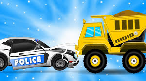 Police Car Hits The Dump Truck | Car Repair | Cars Garage | Videos ...
