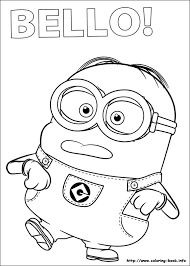 Minion Coloring Pages At Book Online