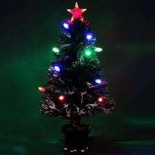 6ft Pre Lit Christmas Trees Black by 7ft Green Pre Lit Multi Colour Fibre Optic Christmas Tree Colour
