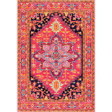 nuLOOM Fancy Persian Vonda Pink 8 ft x 10 ft Area Rug RZBD32A