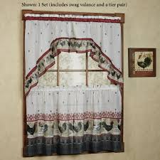 Sears Ca Kitchen Curtains by Kitchen Kitchen Garden Window Curtains With Rooster Tier And