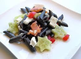 pates encre de seiche salade de pâtes à l encre de seiche cuisine et dépendances