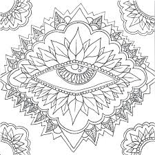Mandala Designs Artists Coloring Book Madness This Eye Begs For Color Michaels Sacred And Patterns Books