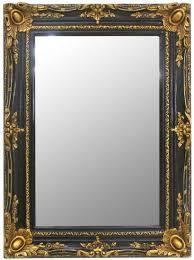 casa padrino barock spiegel schwarz gold 90 x 10 x h 120 cm handgefertigter wandspiegel im barockstil garderoben spiegel wohnzimmer spiegel
