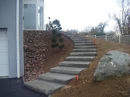 escalier extérieur en béton escaliers en béton désactivé mur en