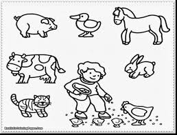 Magnificent Farm Animals Coloring Pages Printable With Of And