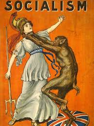 A Beast Chokes The Personification Of Prosperity In Propaganda Poster