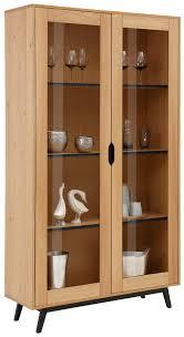 home affaire vitrine flow hinter den holztüren sind mehrere einlegeböden die viel platz für bücher und dekorative accessoires bieten schöne