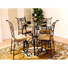New 5 Piece Round Glass Top Traditional Dining Room, Kitchen Dinette ... Jofran Marin County Merlot 5piece Counter Height Table Mercury Row Mcgonigal 5 Piece Pub Set Reviews Wayfair Crown Mark Camelia Espresso And Stool Red Barrel Studio Jinie Amazoncom Luckyermore Ding Kitchen Giantex Pieces Wood 4 Stools Modern Inspiring And Chairs Target Tables For Dimeions Style Sets Design With Round Wooden Bar Best Choice Products W Glass Dinette Frasesdenquistacom Hartwell Peterborough Surplus Fniture No Clutter For The