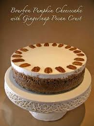 Gingersnap Pumpkin Pie Cheesecake by Bourbon Pumpkin Cheesecake With Gingersnap Pecan Crust Goodies