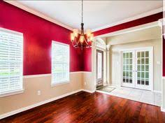Two Tone Walls With Chair Rail by Beige And Red Two Tone Walls Walls Bedroom Remodeling And House