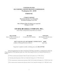 sturm ruger company inc