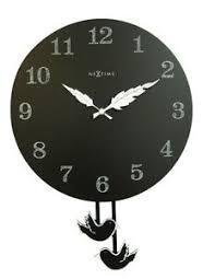 details zu pendeluhr schwarz wanduhr mit vögeln wingbird nextime uhr wohnzimmer küche